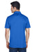 Harriton M315 Mens Polytech Moisture Wicking Short Sleeve Polo Shirt Royal Blue Back
