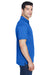 Harriton M315 Mens Polytech Moisture Wicking Short Sleeve Polo Shirt Royal Blue Side