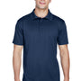 Harriton Mens Polytech Moisture Wicking Short Sleeve Polo Shirt - Navy Blue