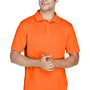 Harriton Mens Polytech Moisture Wicking Short Sleeve Polo Shirt - Team Orange