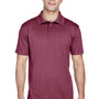 Harriton Mens Polytech Moisture Wicking Short Sleeve Polo Shirt - Maroon