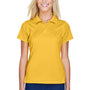 Harriton Womens Polytech Moisture Wicking Short Sleeve Polo Shirt - Gold