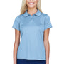 Harriton Womens Polytech Moisture Wicking Short Sleeve Polo Shirt - Light Blue
