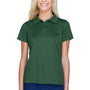 Harriton Womens Polytech Moisture Wicking Short Sleeve Polo Shirt - Dark Green