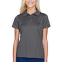 Harriton Womens Polytech Moisture Wicking Short Sleeve Polo Shirt - Charcoal Grey