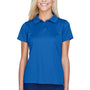 Harriton Womens Polytech Moisture Wicking Short Sleeve Polo Shirt - True Royal Blue