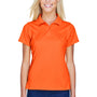 Harriton Womens Polytech Moisture Wicking Short Sleeve Polo Shirt - Team Orange