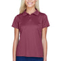 Harriton Womens Polytech Moisture Wicking Short Sleeve Polo Shirt - Maroon