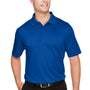 Harriton Mens Advantage Performance Moisture Wicking Short Sleeve Polo Shirt - True Royal Blue