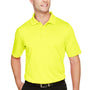 Harriton Mens Advantage Performance Moisture Wicking Short Sleeve Polo Shirt - Safety Yellow