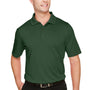 Harriton Mens Advantage Performance Moisture Wicking Short Sleeve Polo Shirt - Dark Green