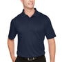 Harriton Mens Advantage Performance Moisture Wicking Short Sleeve Polo Shirt - Dark Navy Blue