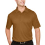 Harriton Mens Advantage Performance Moisture Wicking Short Sleeve Polo Shirt - Duck Brown