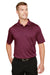 Harriton M348 Mens Advantage Performance Moisture Wicking Short Sleeve Polo Shirt Maroon Front