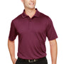 Harriton Mens Advantage Performance Moisture Wicking Short Sleeve Polo Shirt - Maroon