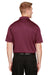 Harriton M348 Mens Advantage Performance Moisture Wicking Short Sleeve Polo Shirt Maroon Back