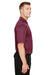 Harriton M348 Mens Advantage Performance Moisture Wicking Short Sleeve Polo Shirt Maroon Side