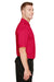 Harriton M348 Mens Advantage Performance Moisture Wicking Short Sleeve Polo Shirt Red Side