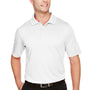 Harriton Mens Advantage Performance Moisture Wicking Short Sleeve Polo Shirt - White