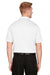 Harriton M348 Mens Advantage Performance Moisture Wicking Short Sleeve Polo Shirt White Back