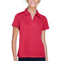 Harriton Womens Double Mesh Moisture Wicking Short Sleeve Polo Shirt - Red