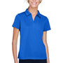 Harriton Womens Double Mesh Moisture Wicking Short Sleeve Polo Shirt - True Royal Blue
