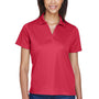 Harriton Womens Moisture Wicking Short Sleeve Polo Shirt - Red