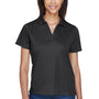 Harriton Womens Moisture Wicking Short Sleeve Polo Shirt - Black