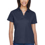 Harriton Womens Moisture Wicking Short Sleeve Polo Shirt - Navy Blue