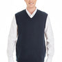 Harriton Mens Pilbloc V-Neck Sweater Vest - Dark Navy Blue