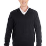Harriton Mens Pilblock V-Neck Long Sleeve Sweater - Black