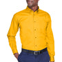 Harriton Mens Wrinkle Resistant Long Sleeve Button Down Shirt w/ Pocket - Sunray Yellow