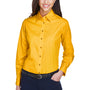 Harriton Womens Wrinkle Resistant Long Sleeve Button Down Shirt - Sunray Yellow