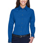 Harriton Womens Wrinkle Resistant Long Sleeve Button Down Shirt - French Blue