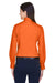 Harriton M500W Womens Wrinkle Resistant Long Sleeve Button Down Shirt Orange Back