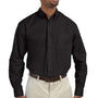 Harriton Mens Essential Long Sleeve Button Down Shirt w/ Pocket - Black