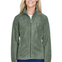 Harriton Womens Full Zip Fleece Jacket - Dill Green