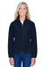 Harriton M990W Womens Full Zip Fleece Jacket Navy Blue Front