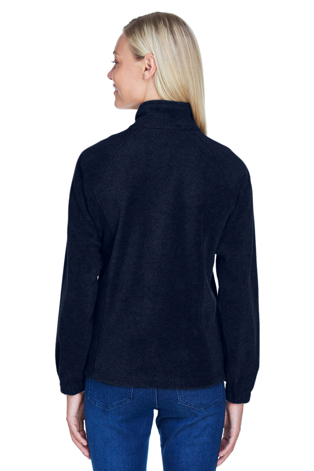 Harriton M990W Womens Full Zip Fleece Jacket Navy Blue Back