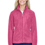 Harriton Womens Full Zip Fleece Jacket - Charity Pink