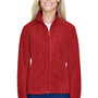 Harriton Womens Full Zip Fleece Jacket - Red