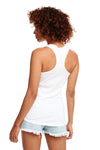 Next Level N1533 Womens Ideal Jersey Tank Top White Back