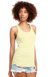Next Level N1533 Womens Ideal Jersey Tank Top Yellow Front