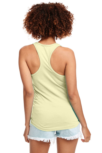 Next Level N1533 Womens Ideal Jersey Tank Top Yellow Back