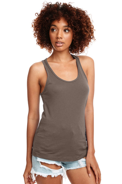 Next Level N1533 Womens Ideal Jersey Tank Top Warm Grey Front
