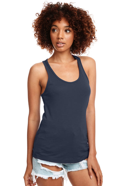 Next Level N1533 Womens Ideal Jersey Tank Top Indigo Blue Front