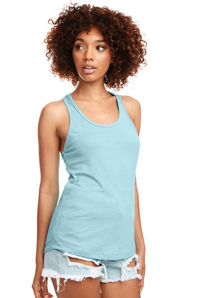 Next Level N1533 Womens Ideal Jersey Tank Top Cancun Blue Front