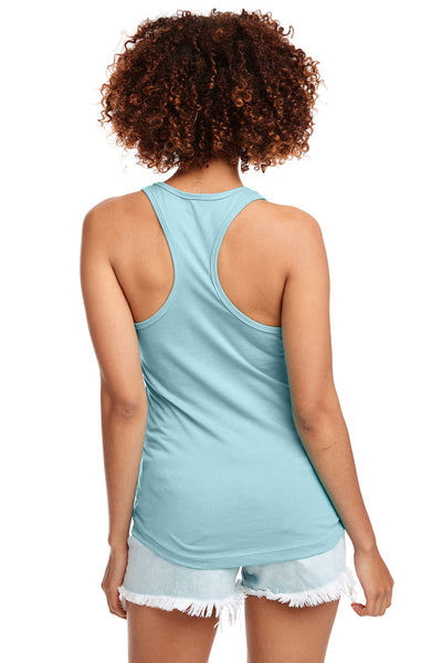 Next Level N1533 Womens Ideal Jersey Tank Top Cancun Blue Back