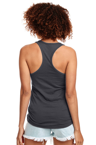 Next Level N1533 Womens Ideal Jersey Tank Top Dark Grey Back