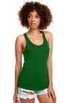 Next Level N1533 Womens Ideal Jersey Tank Top Kelly Green Front